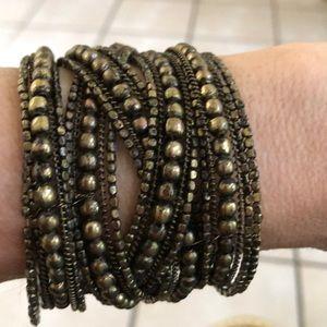 Jewelry - Wire Beaded Cuff Bracelet